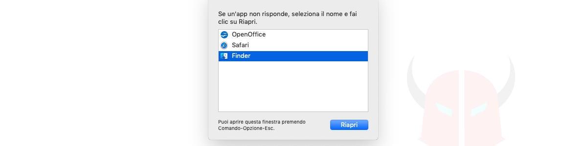come vedere programmi in esecuzione aperti macOS