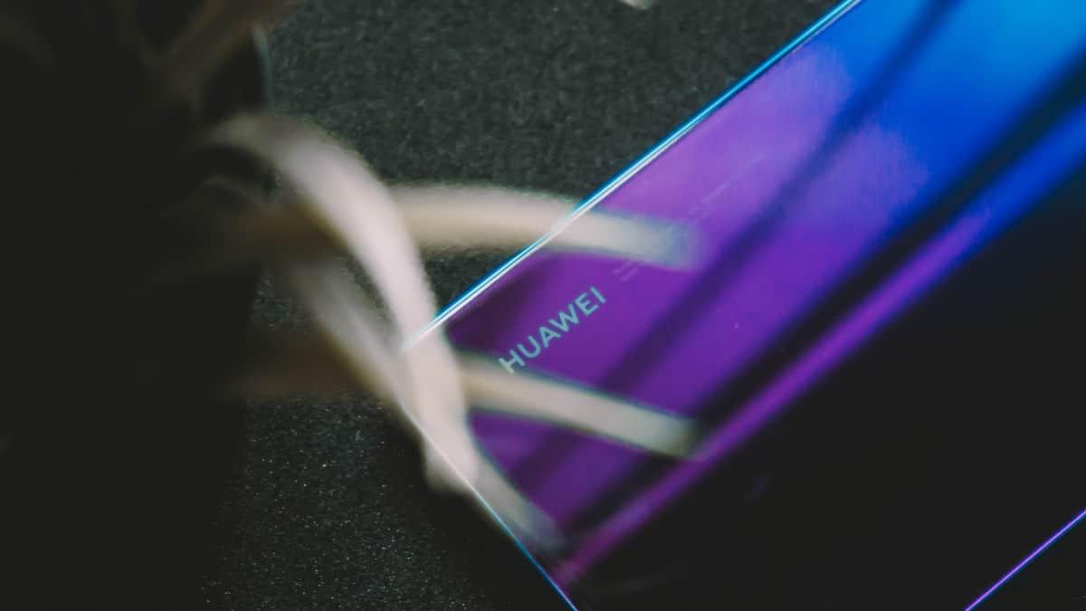 smartphone Huawei dietro una pianta