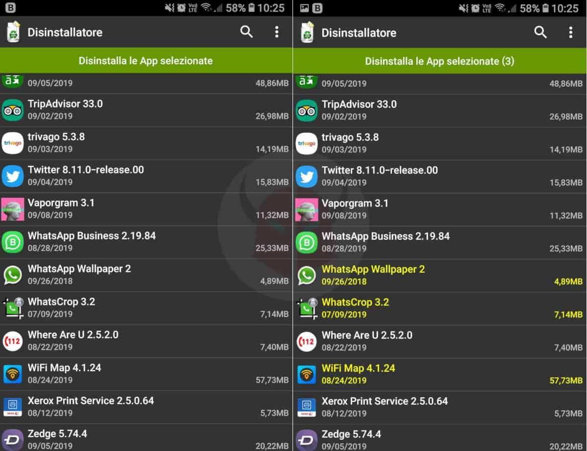 disinstallazione app per bloccare siti che si aprono da soli su Android