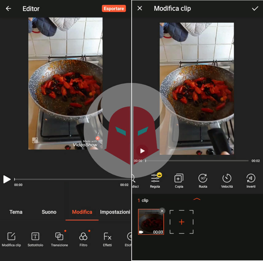 come fare lo slow motion su TikTok app VideoShow