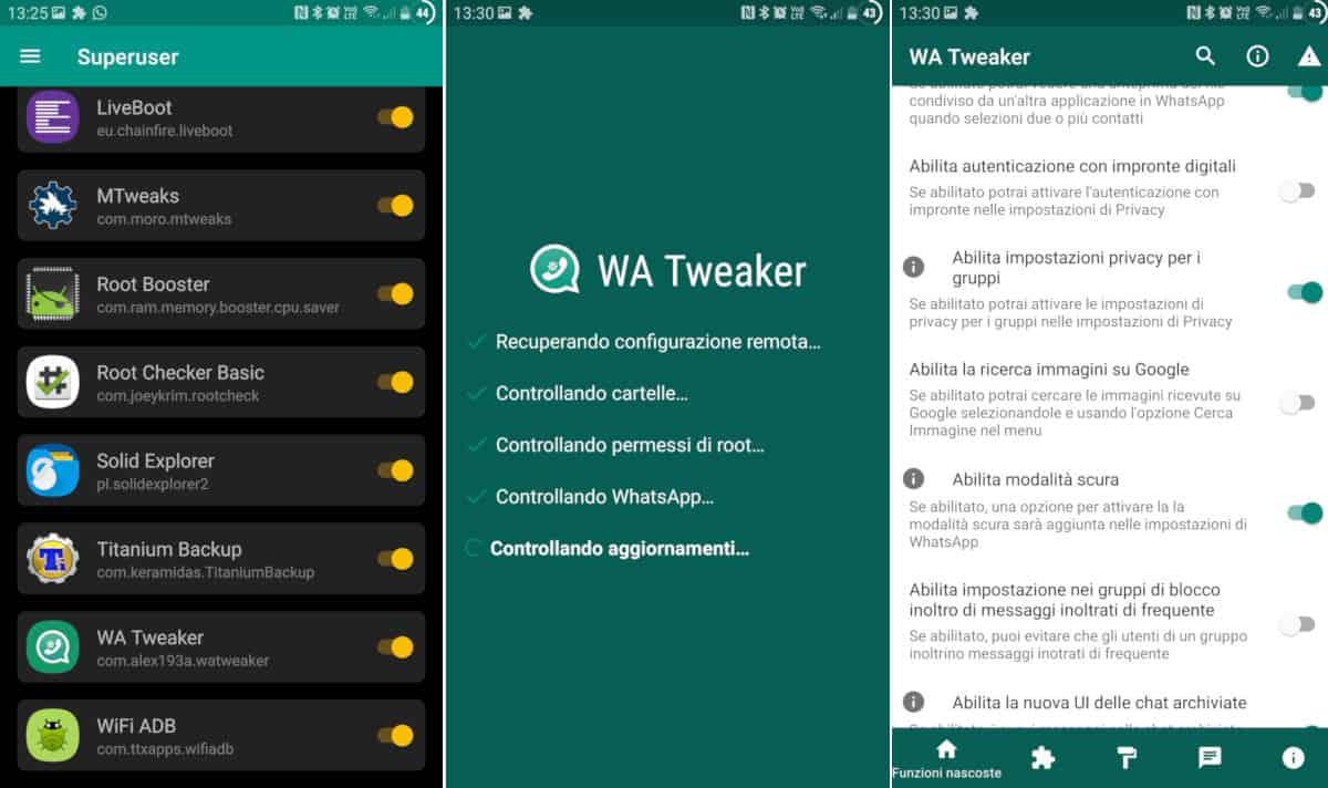come cambiare tema WhatsApp mod WA Tweaker
