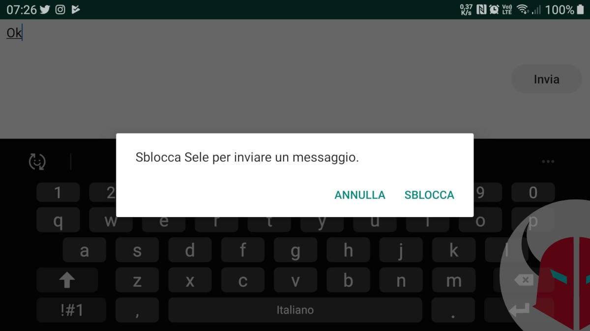 segnala come spam su WhatsApp sblocco