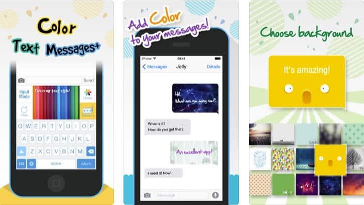 come cambiare colore su WhatsApp esempio Color Texting Messenger