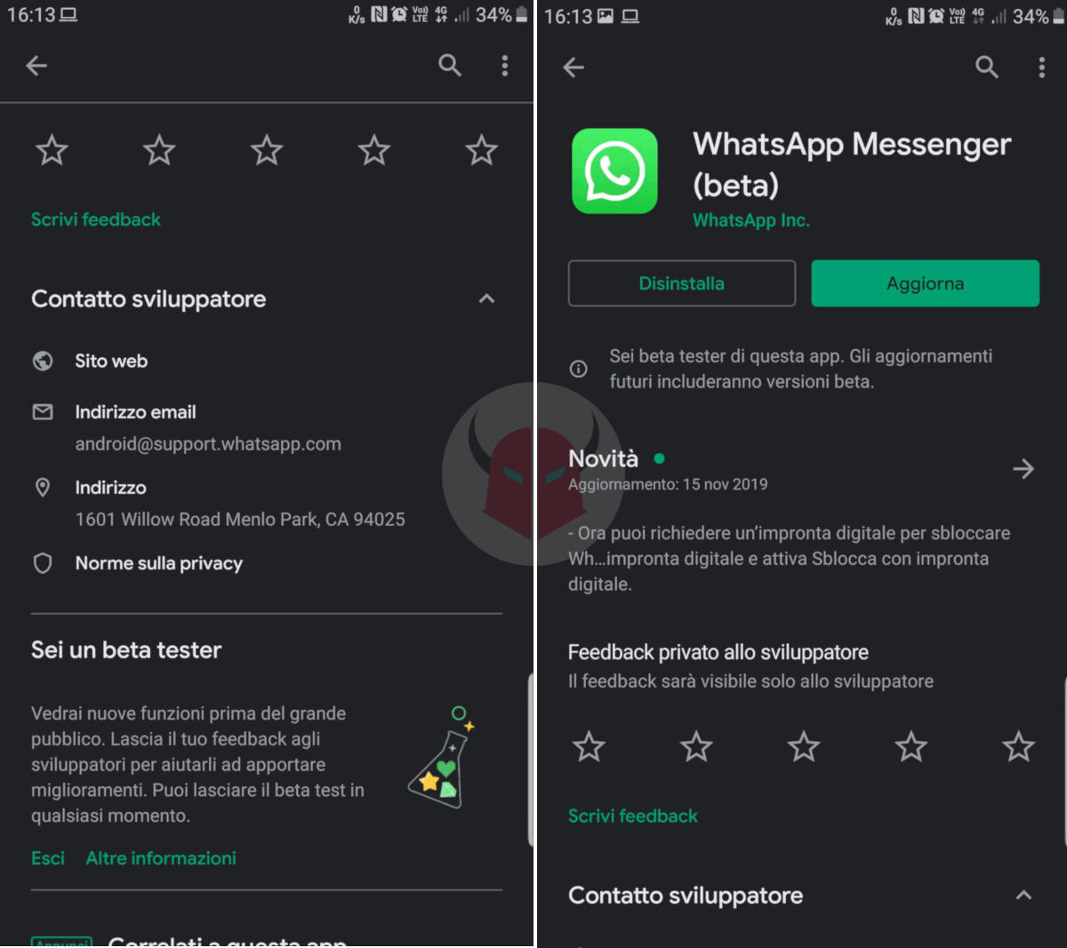 come diventare un beta tester di WhatsApp Android Google Play