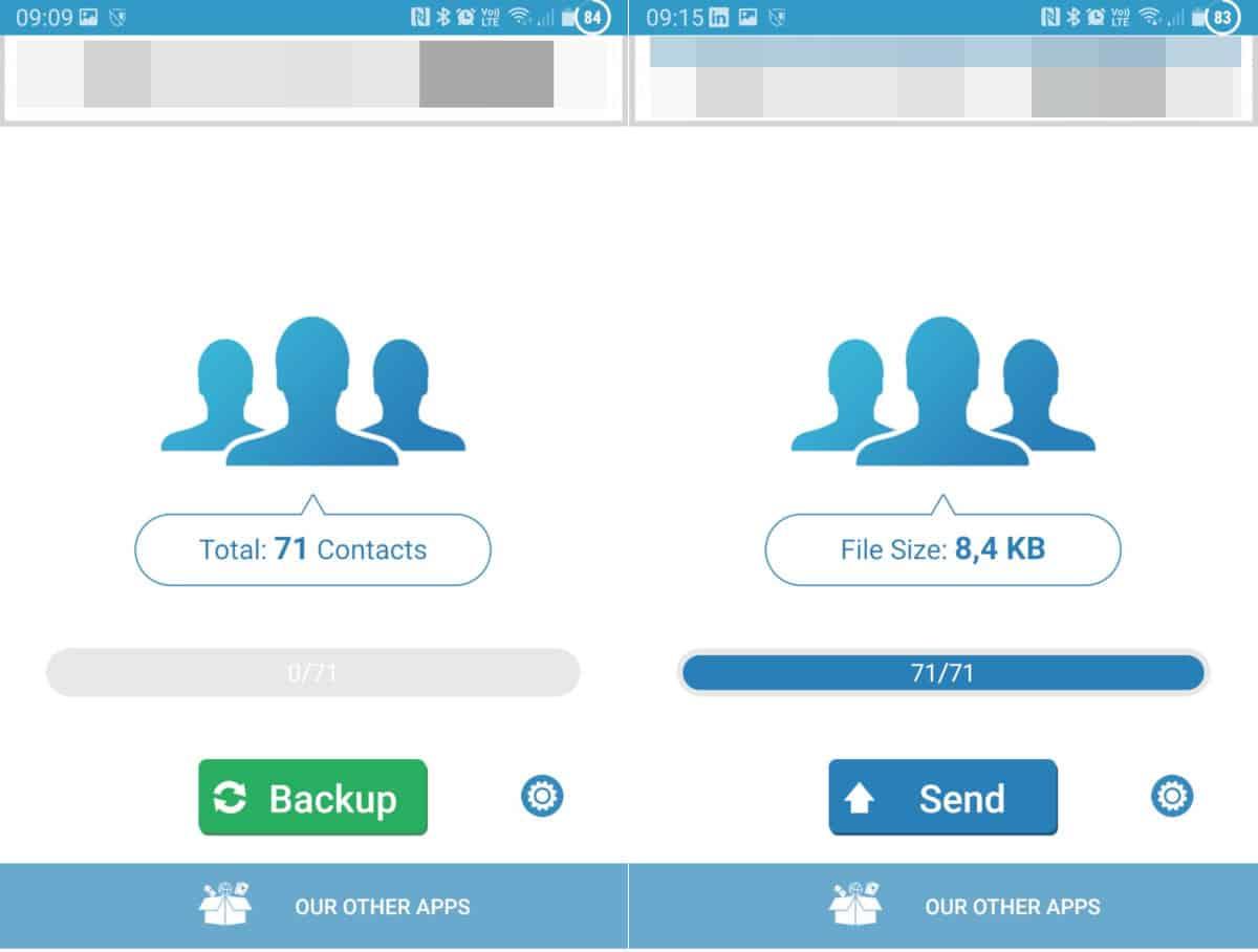 come fare il backup su Android dei contatti app MCBackup