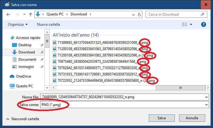 come cambiare l'estensione file su Windows 10 esempio apertura app per tipo di file