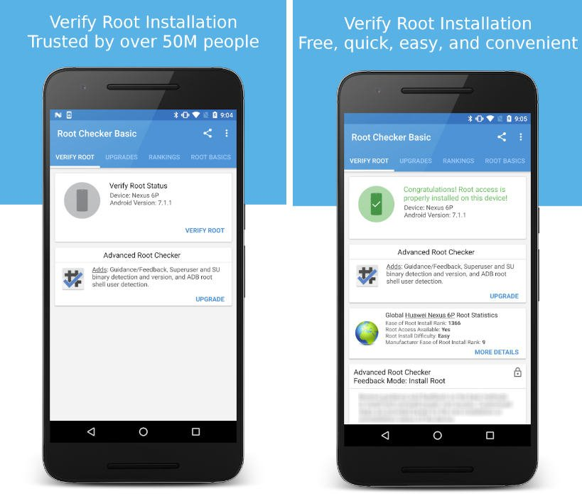 come ottenere i permessi di root su Android app Root Checker