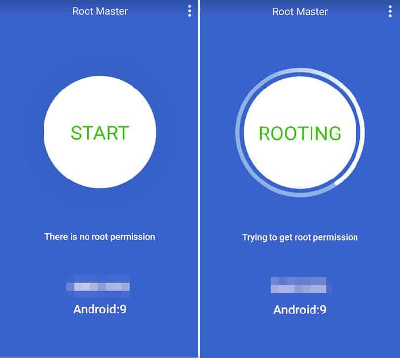 come ottenere i permessi di root su Android app Root Master