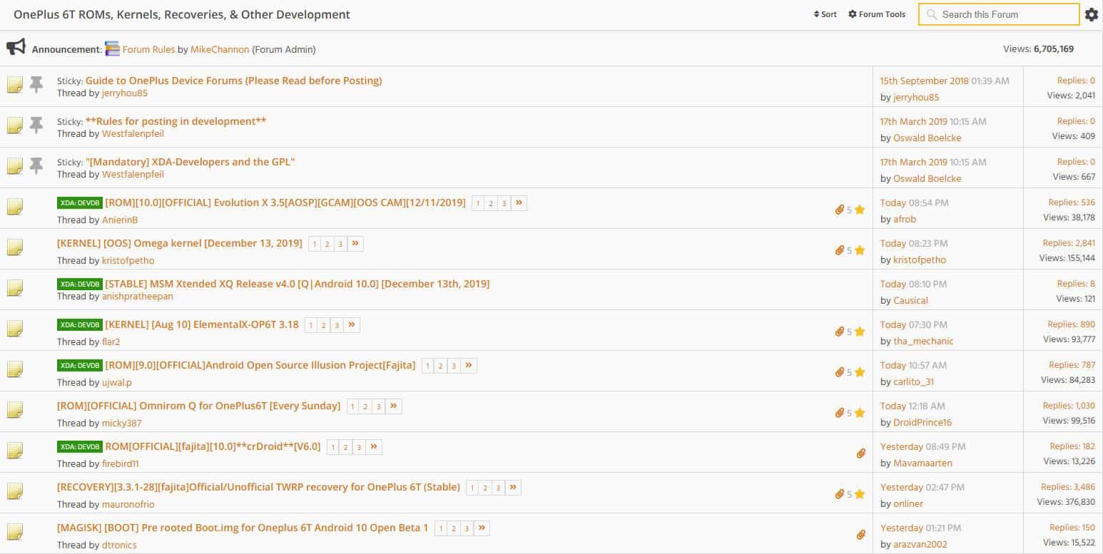 come ottenere i permessi di root su Android schermata di esempio forum XDA