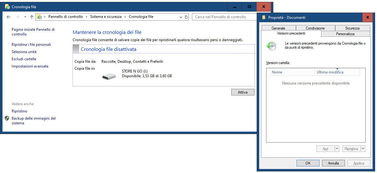 come recuperare i file sovrascritti Cronologia file Windows