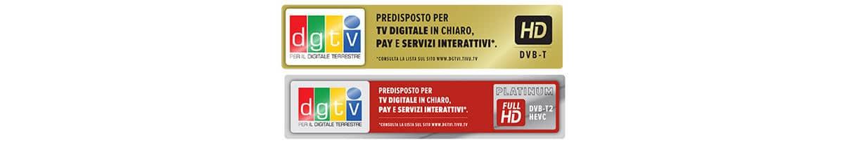 come sapere se il TV è DVB-T2 bollino