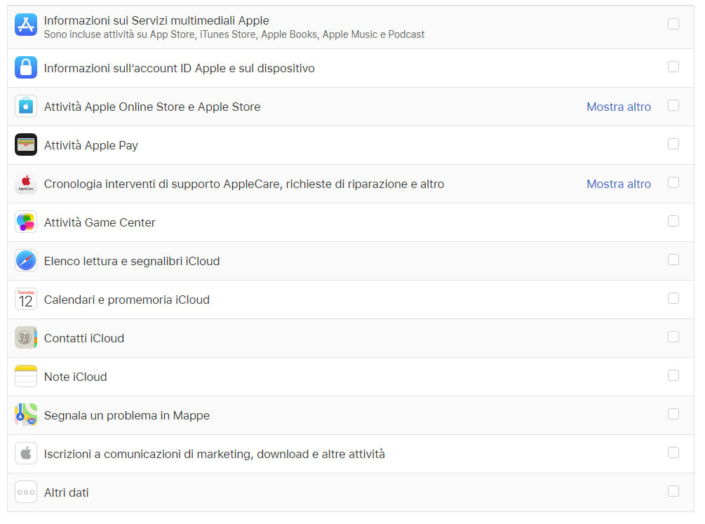 come cancellare dati da iCloud elementi da salvare