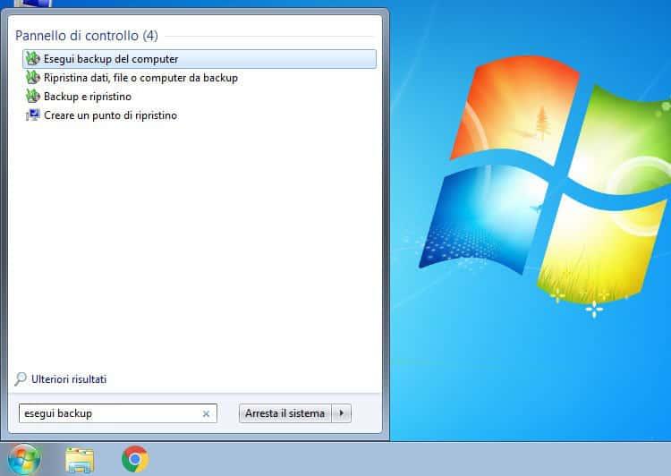 come passare da Windows 7 a WIndows 10 backup del PC W7