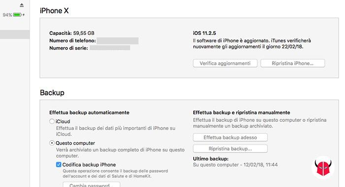 come recuperare la cronologia cancellata da Chrome esempio backup iPhone