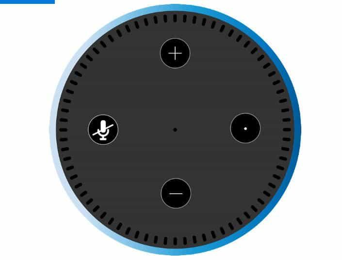 come spegnere Alexa anello LED luminoso