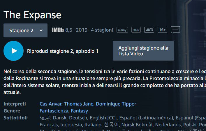 come vedere Amazon Prime Video 4K HDR
