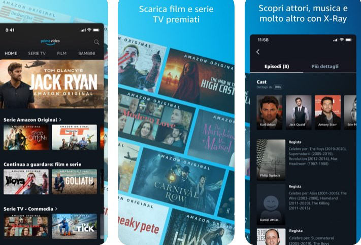 come vedere Amazon Prime Video applicazione iOS e Android