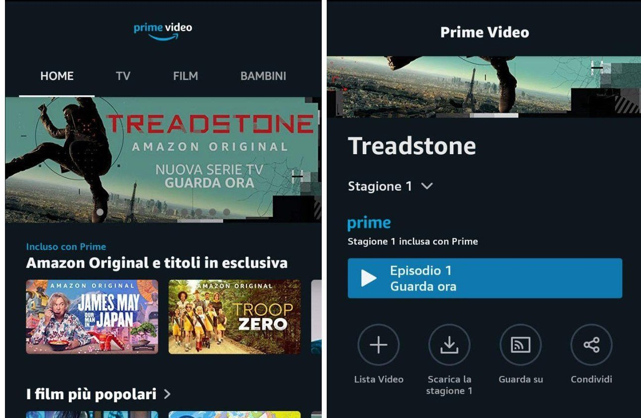 come vedere Amazon Prime Video offline