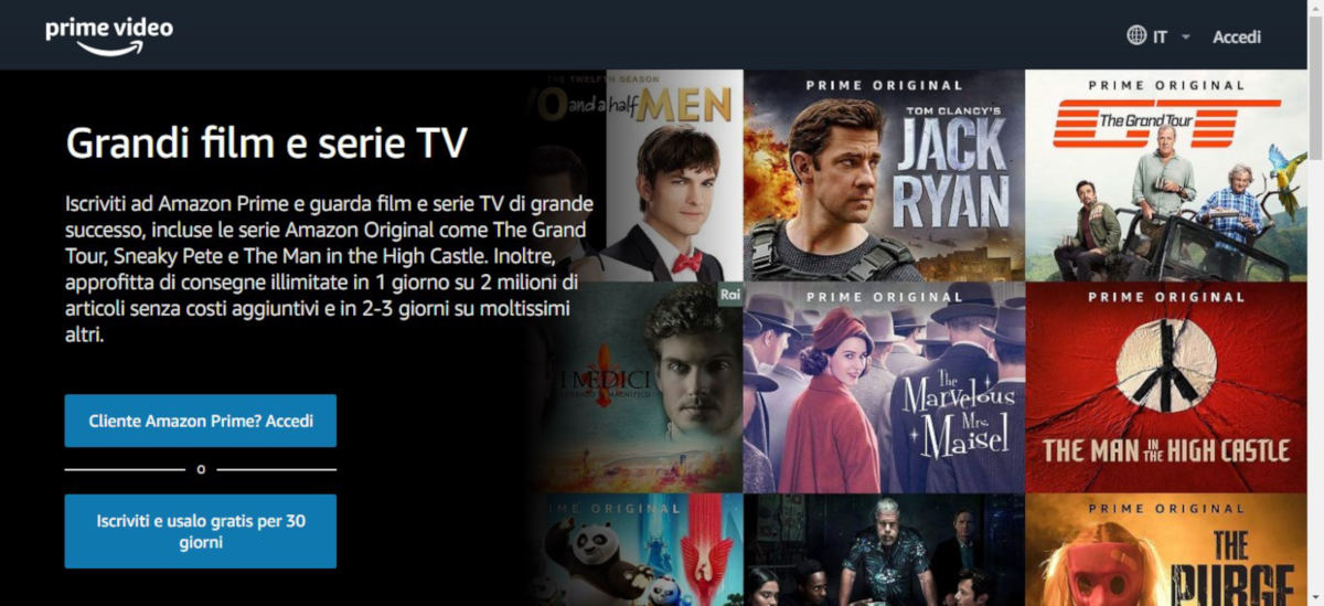 come vedere Amazon Prime Video sito web