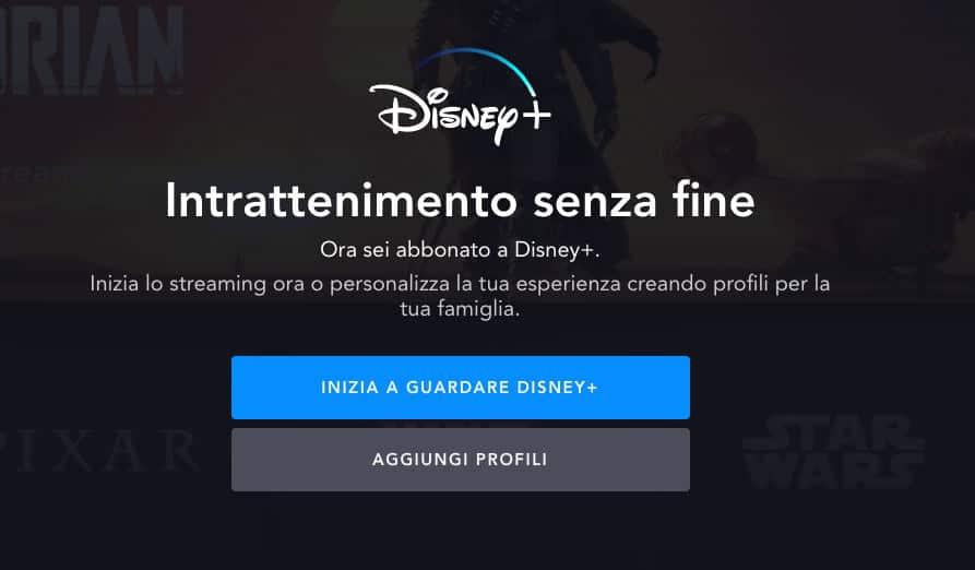 come avere Disney plus conferma iscrizione