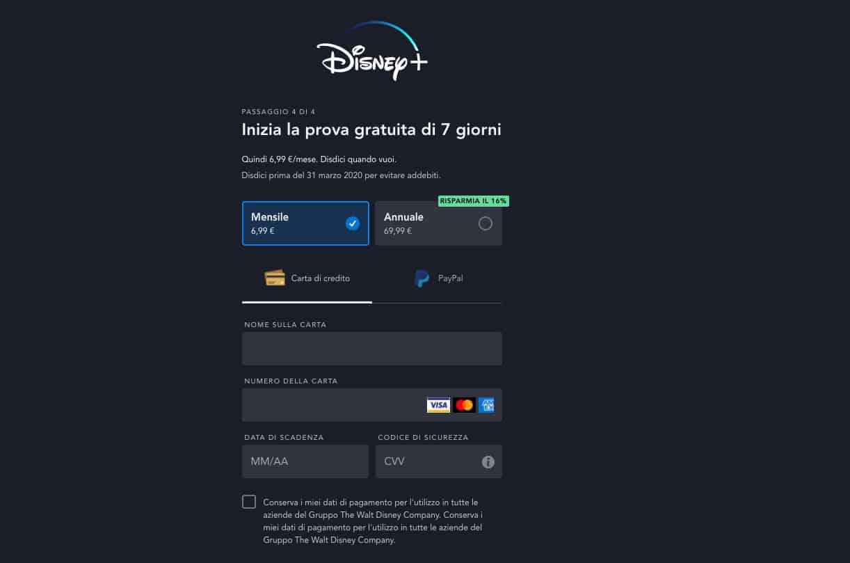 come avere Disney plus scelta abbonamento