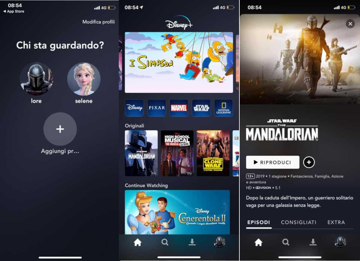 come avere Disney plus visione da app mobile