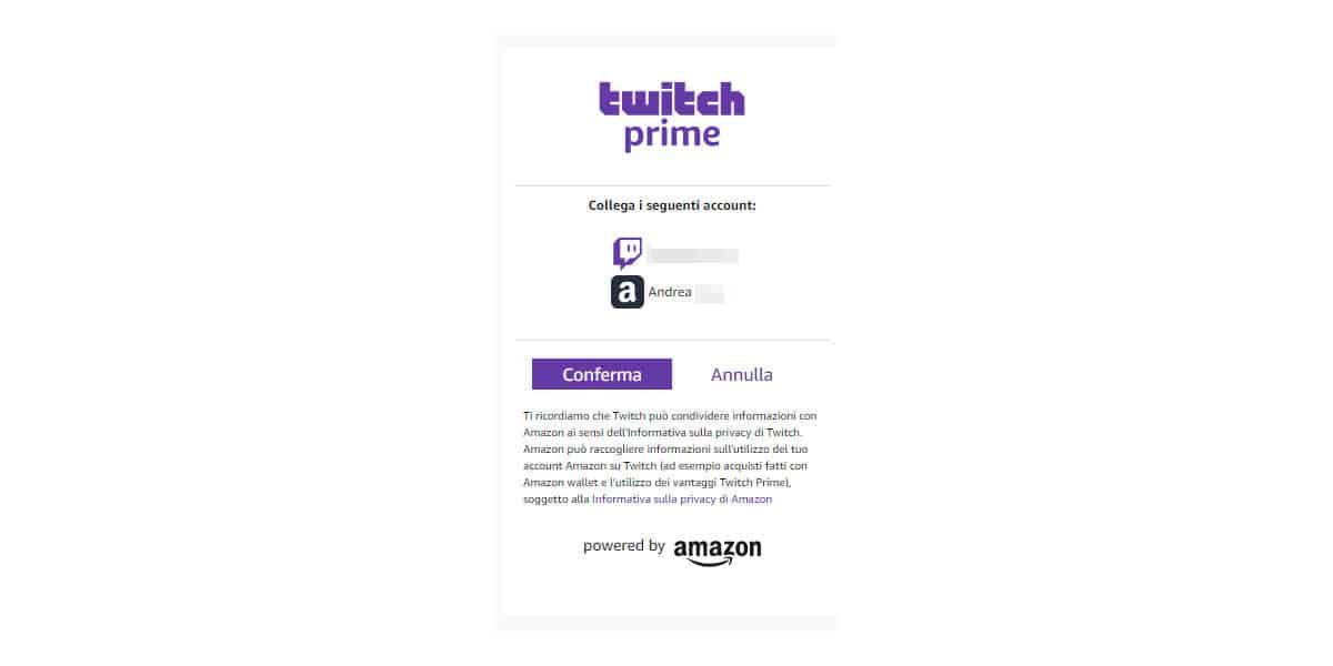 come avere Twitch Prime collegamento Amazon