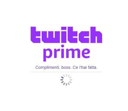 come avere Twitch Prime conferma collegamento Amazon
