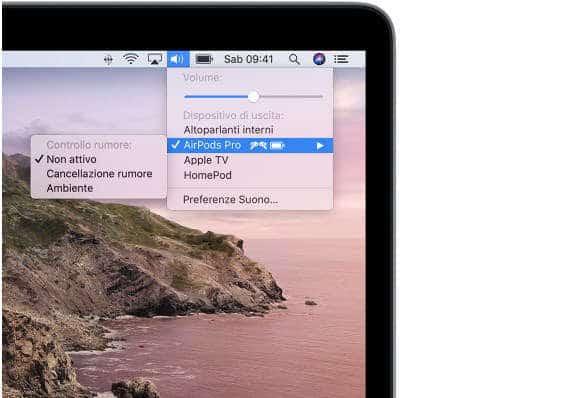 come collegare le AirPods configurazione Mac