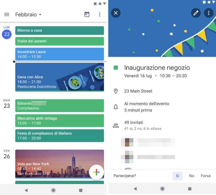 come trasferire i dati da Android ad Android Google Calendar