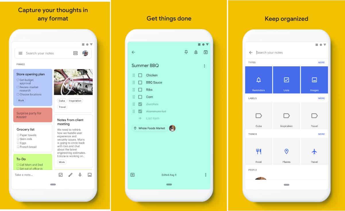 come trasferire i dati da Android ad Android Google Keep