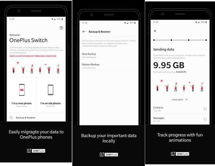 come trasferire i dati da Android ad Android app OnePlus Switch