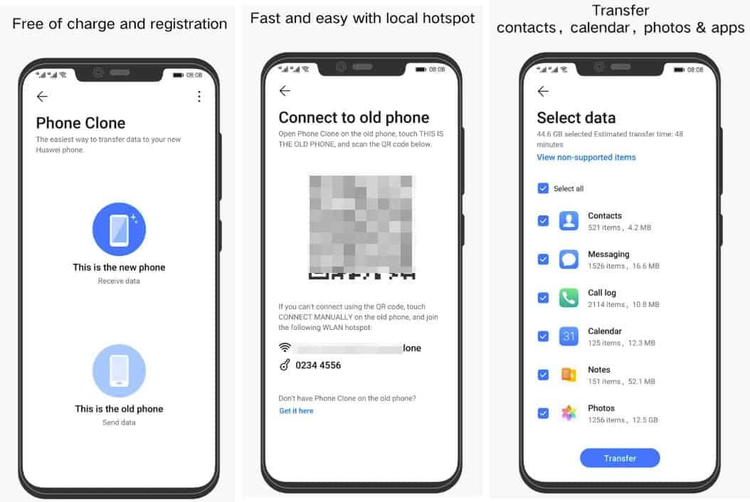 come trasferire i dati da Android ad Android app Phone Clone