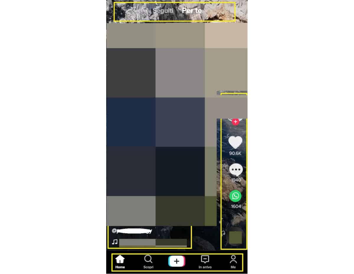 come usare TikTok schermata principale applicazione