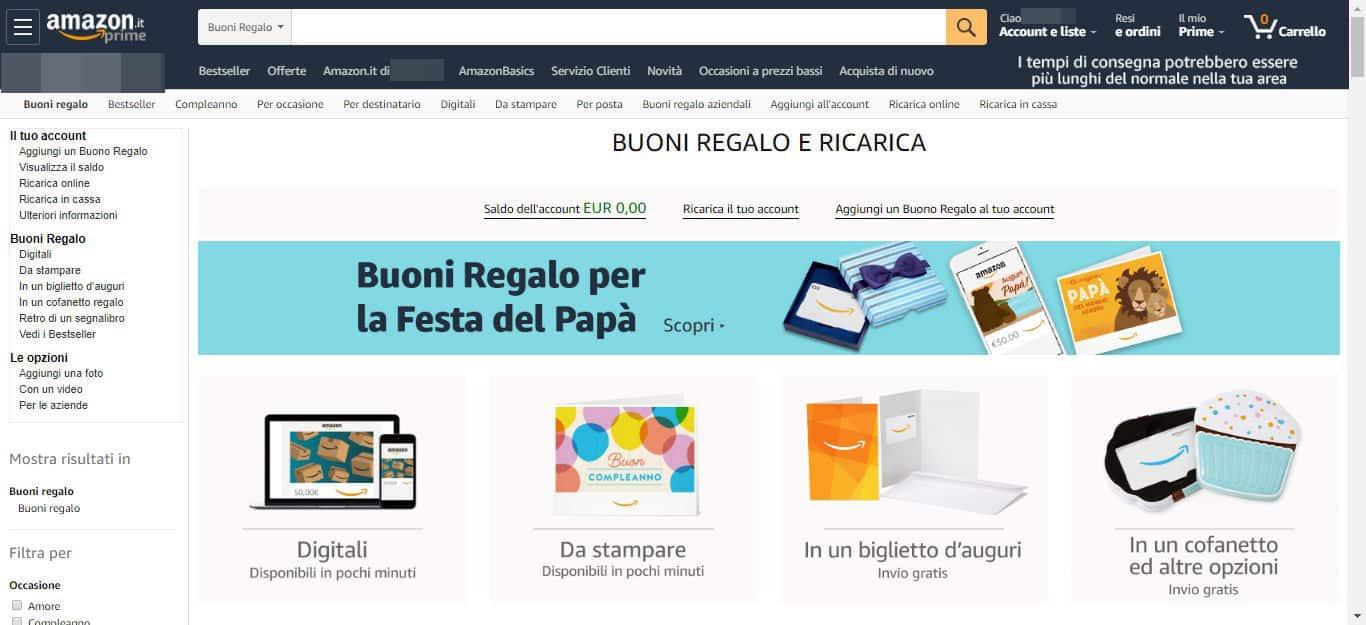 come fare la spesa su Amazon sezione Amazon Pantry