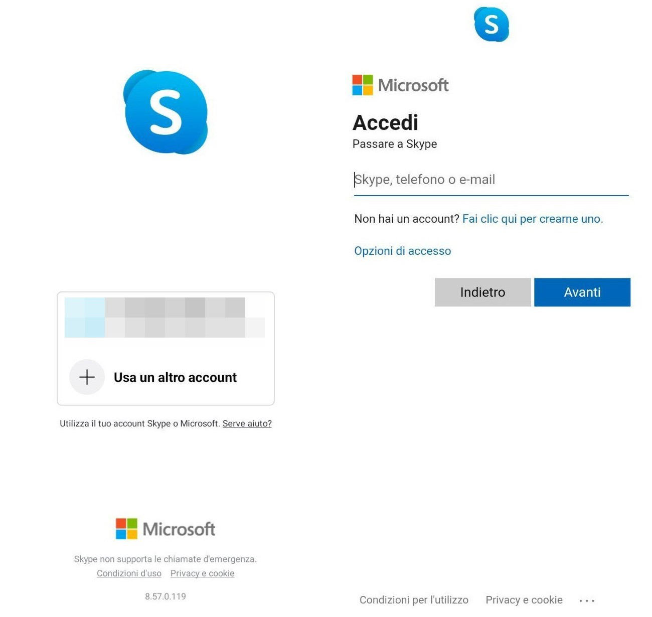 come usare Skype account multipli
