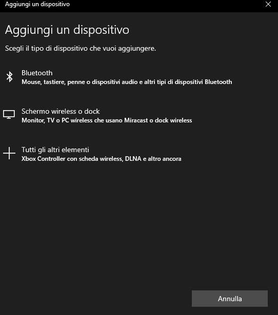 come collegare le cuffie Bluetooth a Windows 10