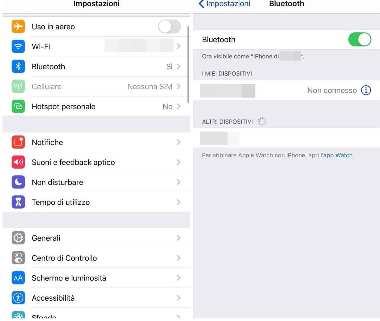 come collegare le cuffie Bluetooth a iOS