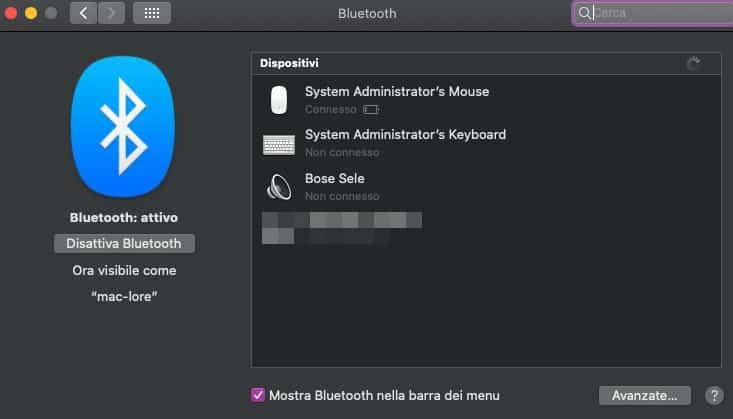 come collegare le cuffie Bluetooth al Mac
