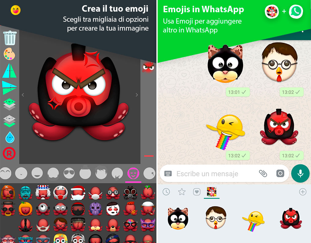 come creare le memoji su Android Emoji Maker di MimiSoft