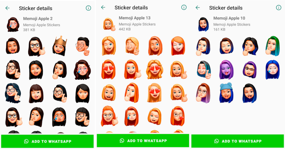 come creare le memoji su Android app Memoji Apple Stickers