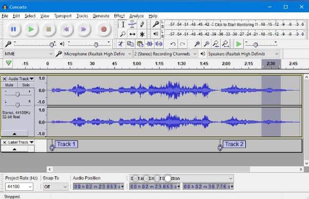 come fare un podcast Audacity GUI
