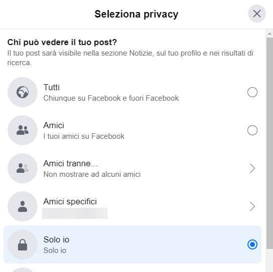 come fare una diretta Facebook privacy