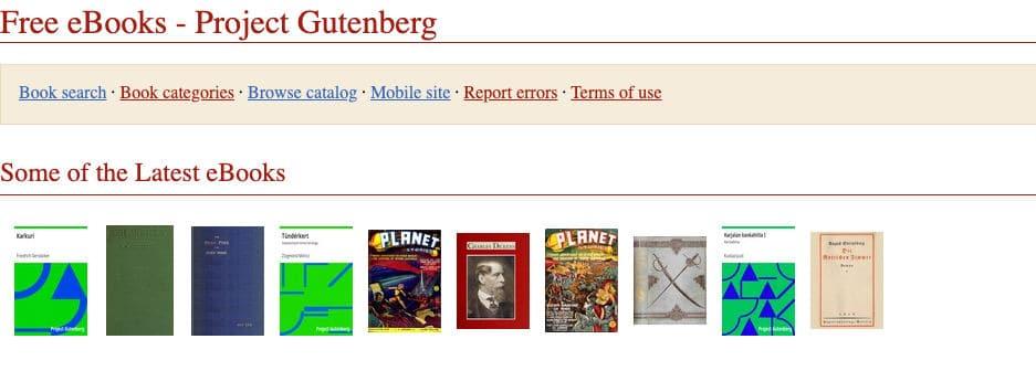 come leggere libri online Progetto Gutenberg