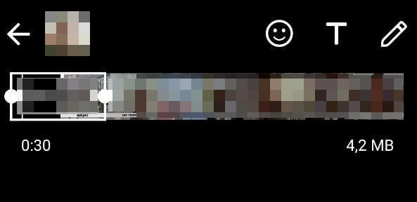 come mettere un video nello stato di WhatsApp ritaglio fotogrammi