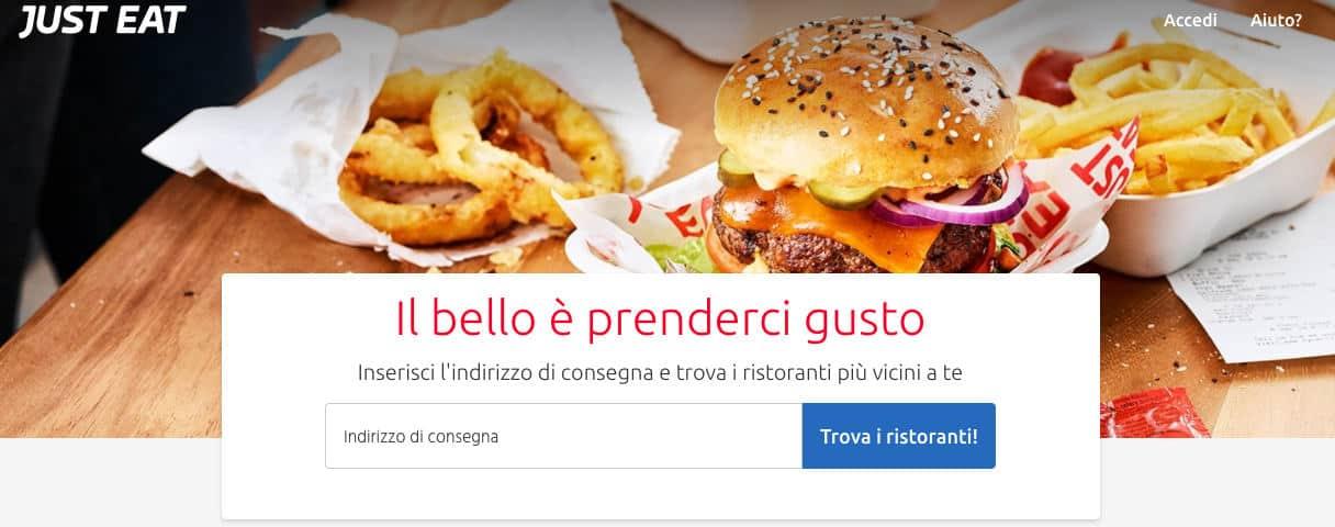 come ordinare cibo online Just Eat