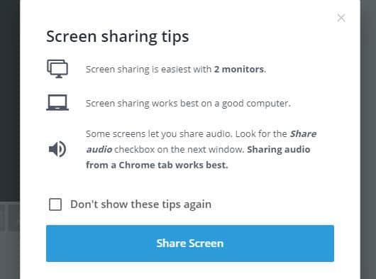 come usare StreamYard condivisione schermo