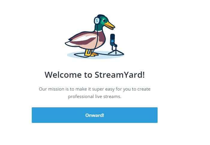 come usare StreamYard schermata di conferma registrazione
