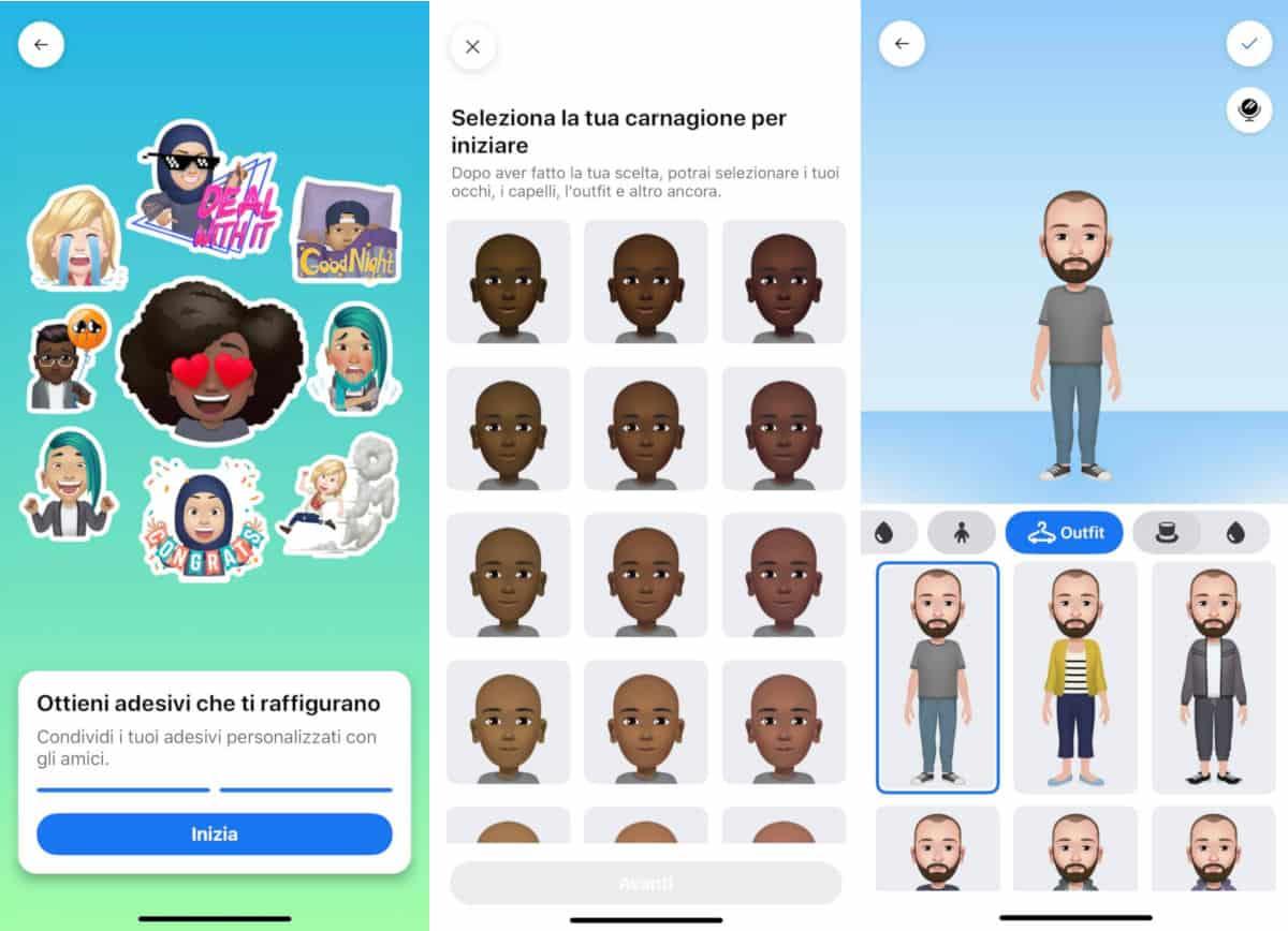 come creare un avatar su Facebook personalizzazione