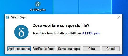 come stampare un file PDF P7M esempio Dike